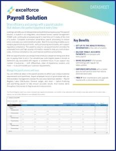 Payroll Solution Datasheet cover